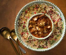 Moroccan lamb with pilaf