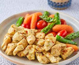 Pollo al limón con verduras