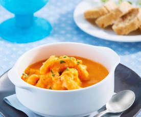 Camarones en salsa de pimientos