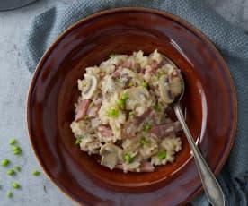 奶香培根野菇燉飯