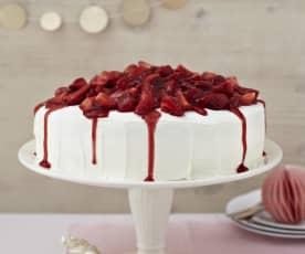 Erdbeer-Pfirsich-Torte