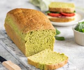 Zielony chleb ze szpinakiem