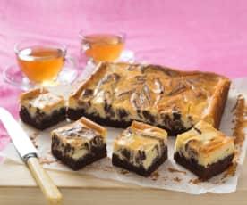 Peppermint chocolate brownie cheesecake