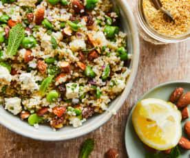 Salade de boulgour aux fèves et amandes