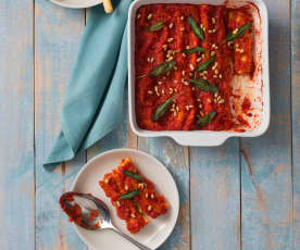 Pumpkin and ricotta cannelloni