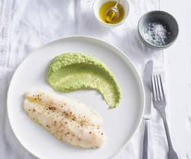 Filetti di trota con purea di broccoli