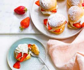 Choux à la crème et aux fraises