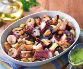 Insalata di mare con citronette all'aglio