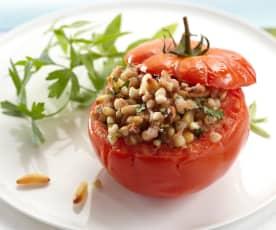 Ochsenherz-Tomaten mit Buchweizen