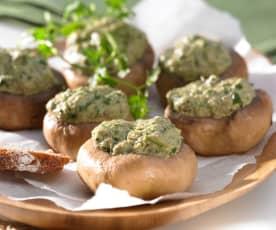 Champignons mit Kräuter-Mascarpone