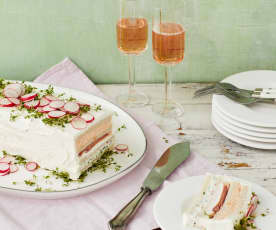 Sandwich-Frischkäse-Kuchen