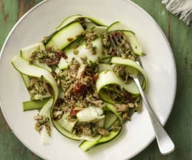 Allergen Friendly Tuna and Sun-dried Tomato Courgetti