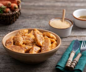 Kopytka marchewkowe z masłem cynamonowym
