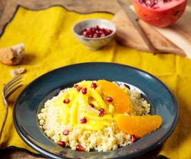 Fenouil et millet, gelée d'orange à l'anis