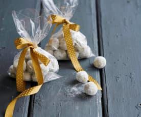 Trufas de chocolate branco