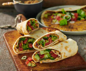 Wraps mit Curry-Bohnen-Paste