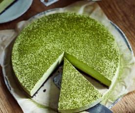 Matcha-Mousse-Kuchen (抹茶慕斯)