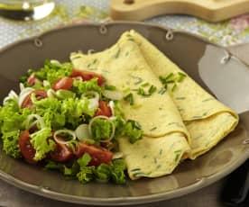 Omeleta s parmazánem