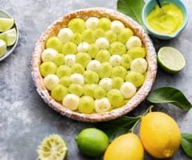 Tarte aux deux citrons sans gluten