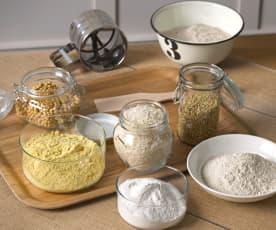 Preparación de harinas sin gluten