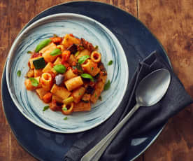 Pasta with Hearty Vegetable Sauce