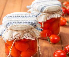 Conserva de tomates cherry
