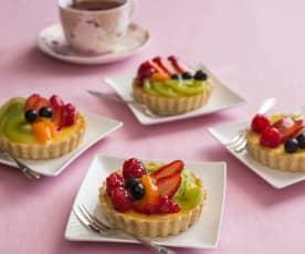 Gluten free fresh fruit and cream cheese tarts