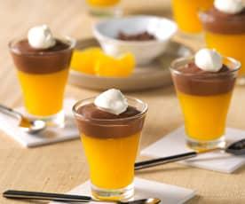 Vasitos de mandarina y chocolate