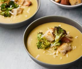 Creamy Vegan Broccoli and Cheese Soup