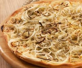 Pizza genovesa de cebolla