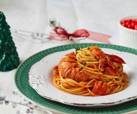 Spaghetti alla chitarra con aragosta