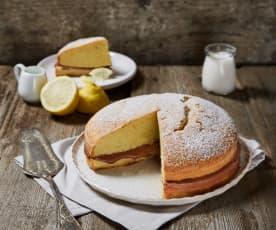 Torta paradiso con mousse alla crema gianduia