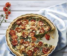 Torta salata spinaci e pomodori (vegan)