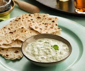 Salsa de yogur masala (Raita masala) - India
