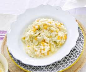 Karotten-Chicoreé-Risotto