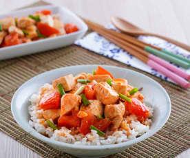 蕃茄豆腐雞肉蓋飯