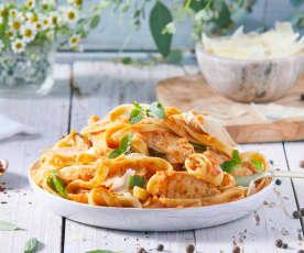 Tomato Basil Chicken Fettuccine
