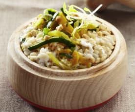 Gemüsereis mit Kokosmilch und Cashewkernen