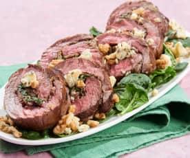 Mushroom and Blue Cheese Stuffed Flank Steak
