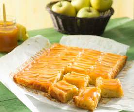 Tarta de manzana con glaseado de albaricoque