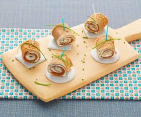 Naleśnikowe roladki z łososiem (bez glutenu)