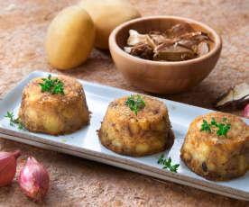 Sformatini di patate e funghi (vegan)