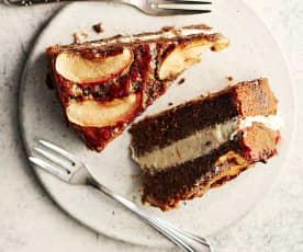 Gâteau pommes-noix de pécan