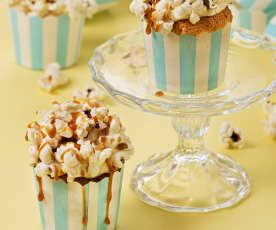 Cupcakes con palomitas y toffee salado