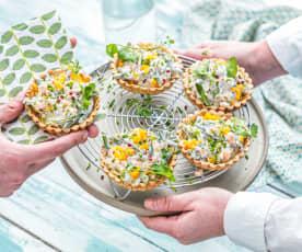 Tartelette aux carottes et haricots verts