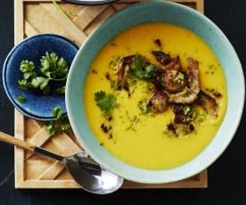 Limetten-Süßkartoffel-Suppe
