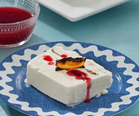 Tarta helada de frutas de Aragón