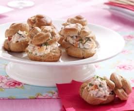 Choux au sarrasin, crabe et ciboulette