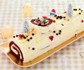 Bûche roulée vanille-chocolat