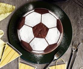 Fußball-Schokokuchen